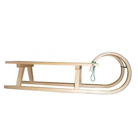 Zakrivljene lesene sanke - 105 cm