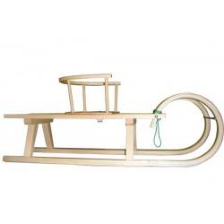 Zakrivljene sanke 105 cm in stolček