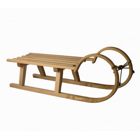 Zakrivljene lesene sanke - 100 cm