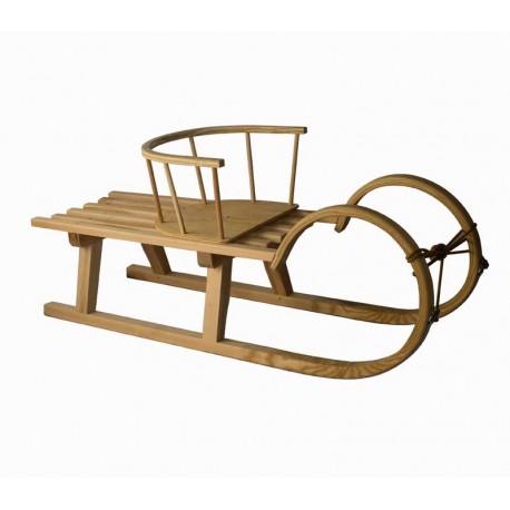 Zakrivljene sanke 100 cm in stolček